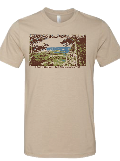 Unisex Gibralter Tee - Journey the Scenic Route to the North