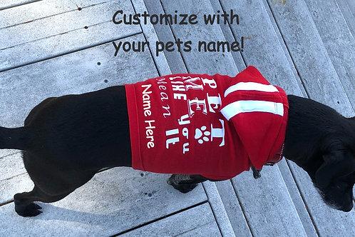 Custom Pet Name on Doggie Shirt