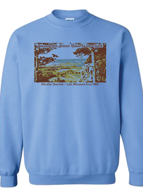 Unisex Gibraltar Sweatshirt - Journey the Scenic Route to the North
