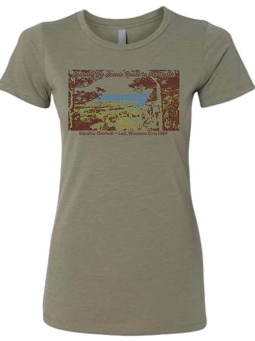 Ladies/Junior Fit Gibraltar Tee - Journey the Scenic Route to the North