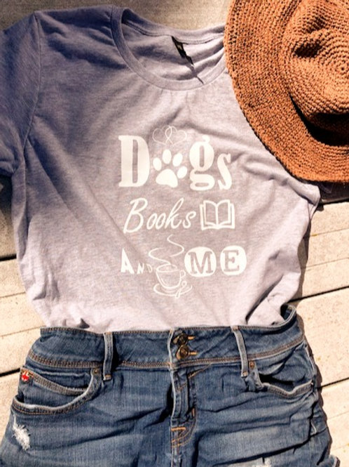Women's Tee - Dogs Books And Me