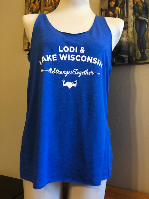 #StrongerTogether Ladies Tank with Heart & Arrow