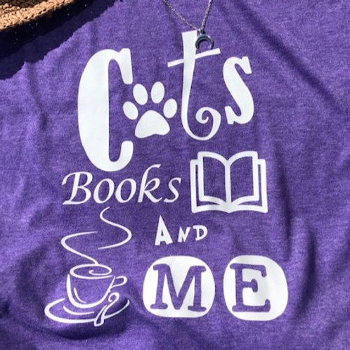UNISEX Tee - Cats Books And Me