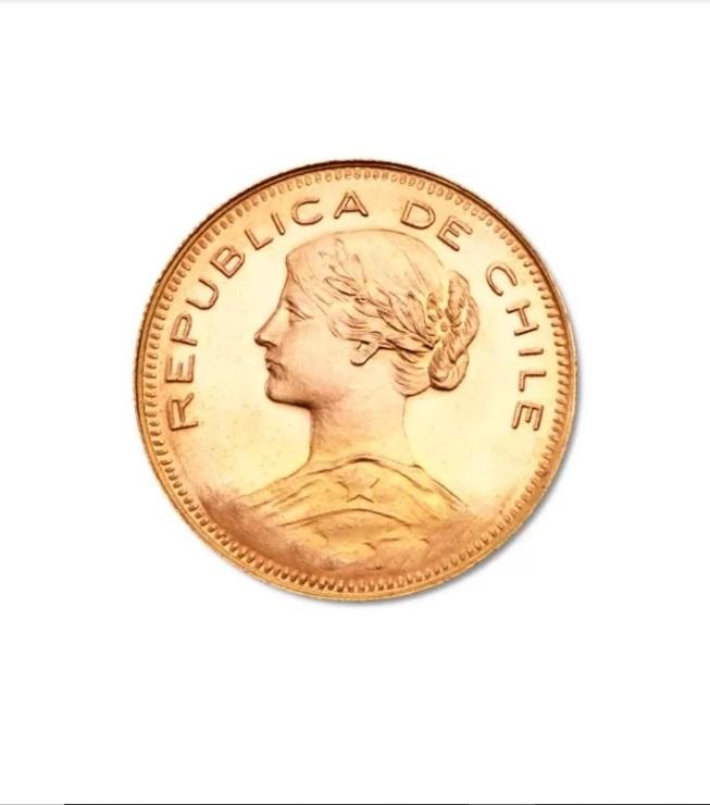 Moneda Chileno 10 cóndores