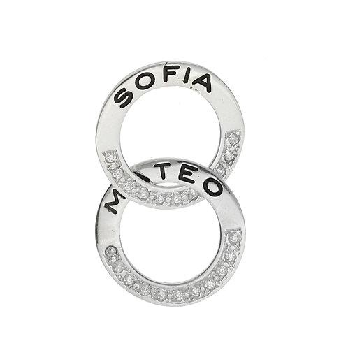 Argolla rusa para personalizar con nombre de plata 925