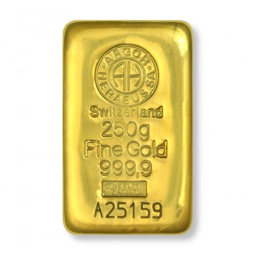 Lingote de oro 250 g