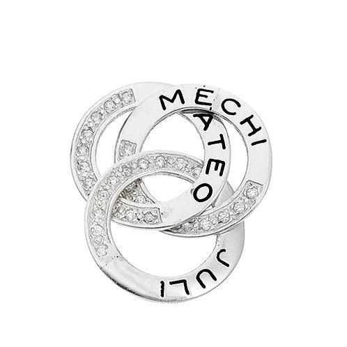 Argolla rusa para personalizar con nombre de plata 925. Baviera joyeria