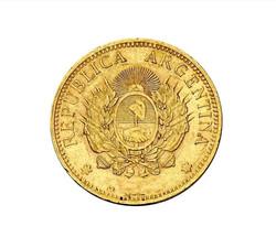 Moneda Argentino de oro 5 pesos