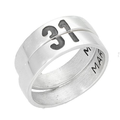 Alianzas de plata 925 para personalizar con grabado
