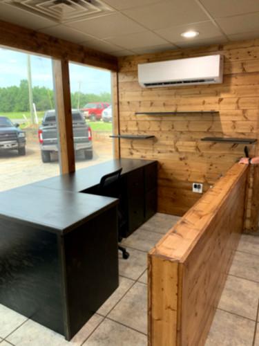 Custom Built L-shaped Desk w_floating sh