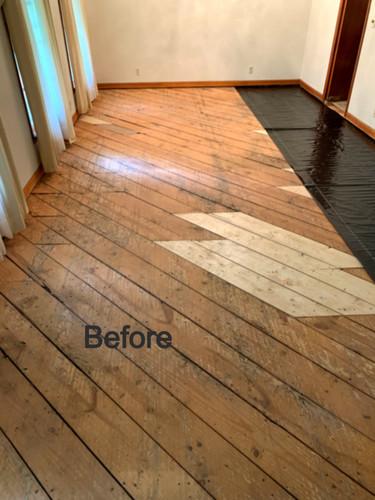 Floor Before Hardwood flooring installat
