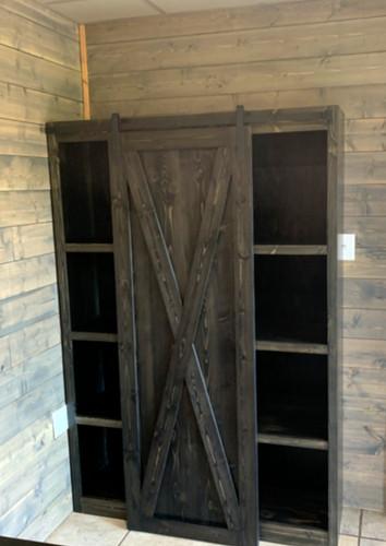 Sliding Barn door Bookcase