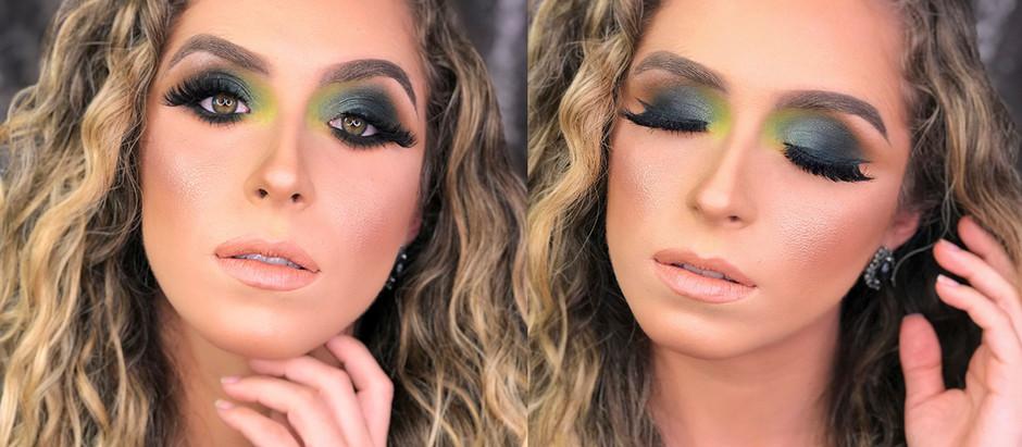Maquiando Cliente - Esfumado e delineados Verdes / JOYCE PORTELA BEAUTY
