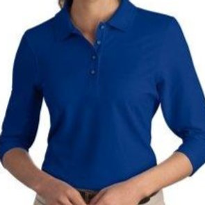 L562 Port Authority Easy Care Polo Shirt with 3/4 Sleeves