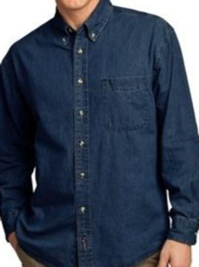 SP10 Port & Company Long Sleeve Value Denim Shirt
