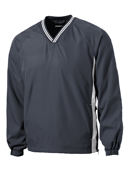 JST62 Sport-Tek® Tipped V-Neck Raglan Wind Shirt