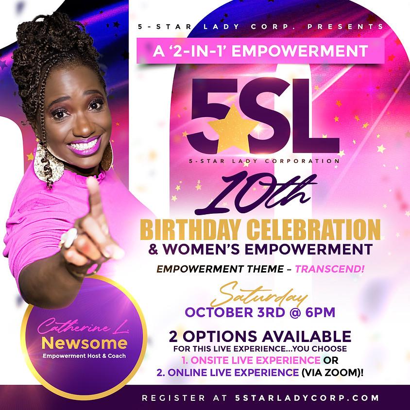 5-Star Lady 10th Birthday Celebration & Women's Empowerment