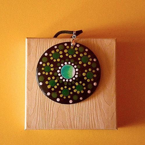 Mandala Dot Art Verde