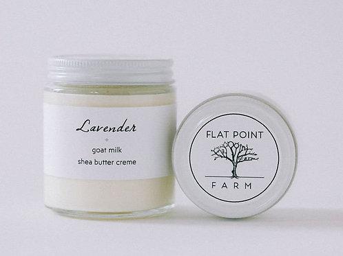 Flat Point Farm Goat Milk Shea Butter Creme - Lavender