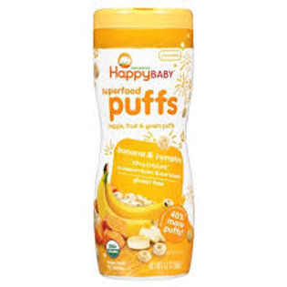 Happy Baby Happy Puffs Organic Pumpkin and Banana - 2.1oz