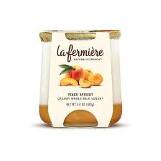 La Fermiere Creamy Whole Milk Yogurt Peach Apricot