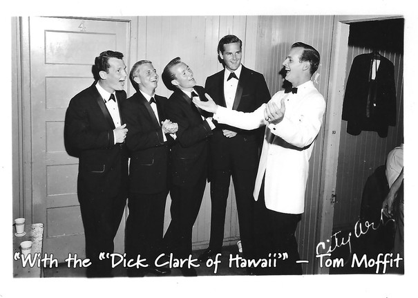"""""""With the """"'Dick Clark of Hawaii'"""" – Tom"""