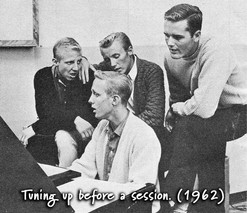 16-Tuning up before a session-1962.jpg