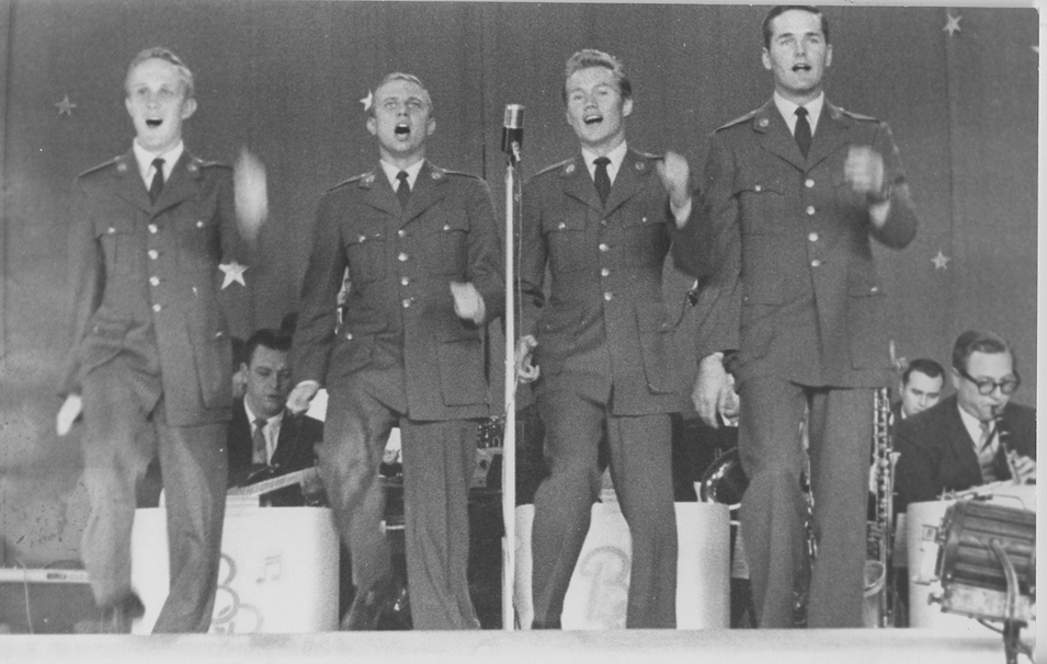 Four Preps in Uniform, Marching 1958