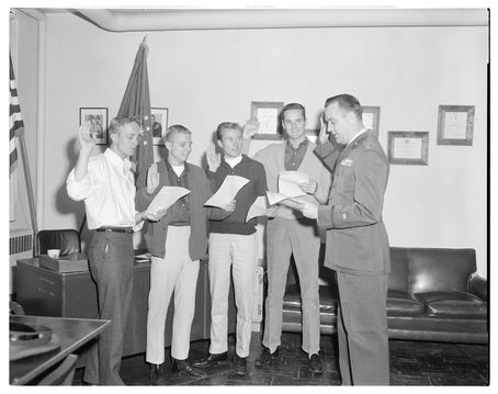 Four Preps Being Sworn in to Air Force