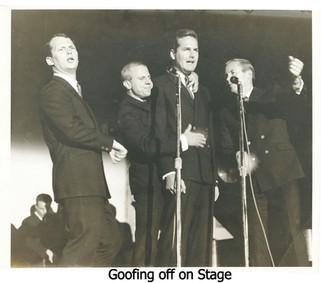 Goofing off on Stage 1962.jpg