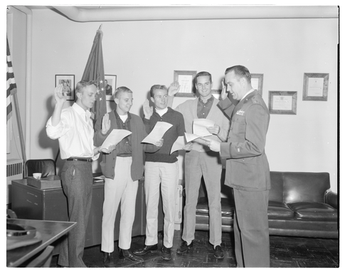 Four Preps Being Sworn in to Air Force 1