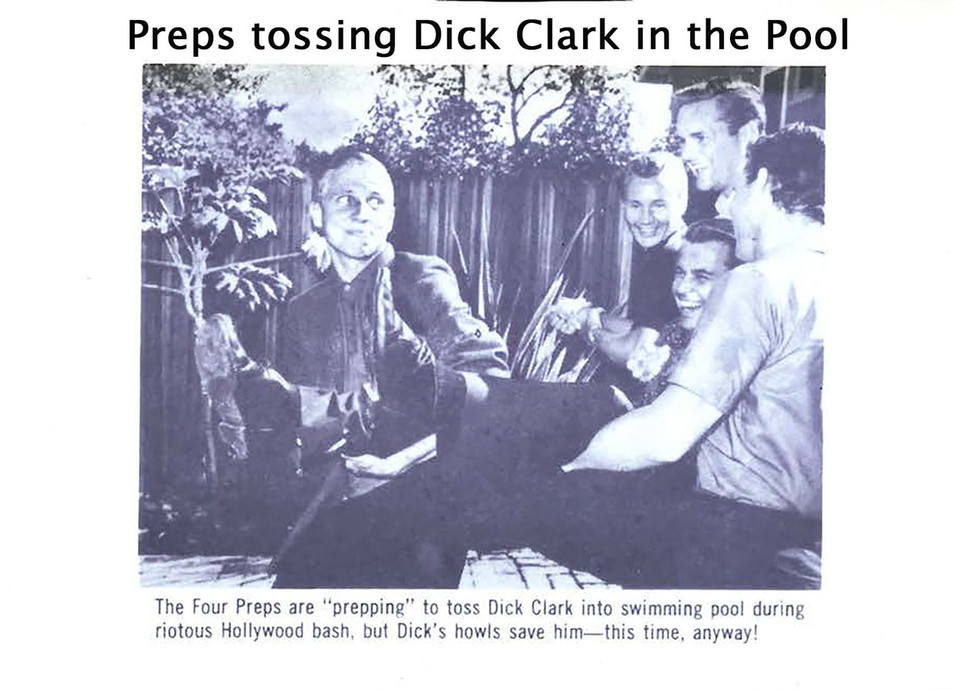 Dick Clark into the Pool