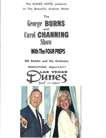 George Burns & Carol Channing at Dunes