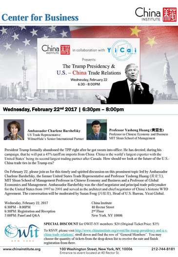 The Trump Presidency and US -China Trade Relations