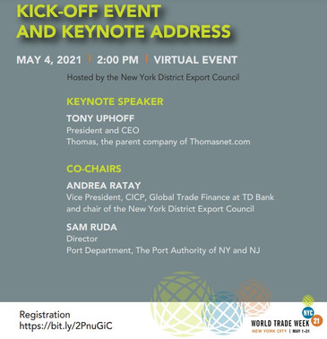 World Trade Week NYC 2021: Kick-off Event