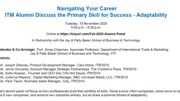 Talking Trade @ FIT: Navigating Your Career