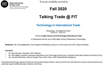 Talking Trade @ FIT: Technology in International Trade