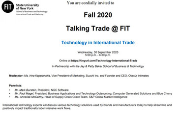 Talking Trade @ FIT: Technology in International Trade