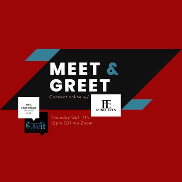 Meet & Greet: Thursday, October 7, 2021 at 12pm EDT