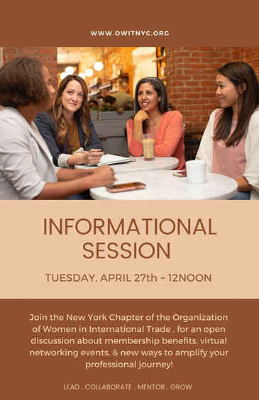 Free OWIT NY Info Session: Tuesday, April 27, 2021 at 12:00 PM