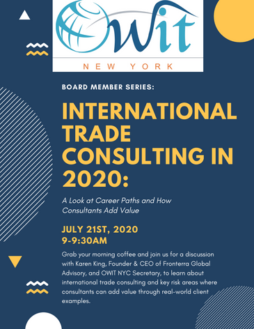 Webinar: International Trade Consulting in 2020: A Look at Career Paths and How Consultants Add Valu