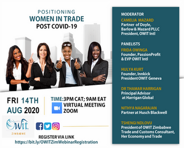 Webinar: Positioning Women In Trade Post COVID-19
