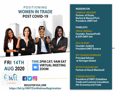 Webinar: Positioning Women In Trade Post COVID-19