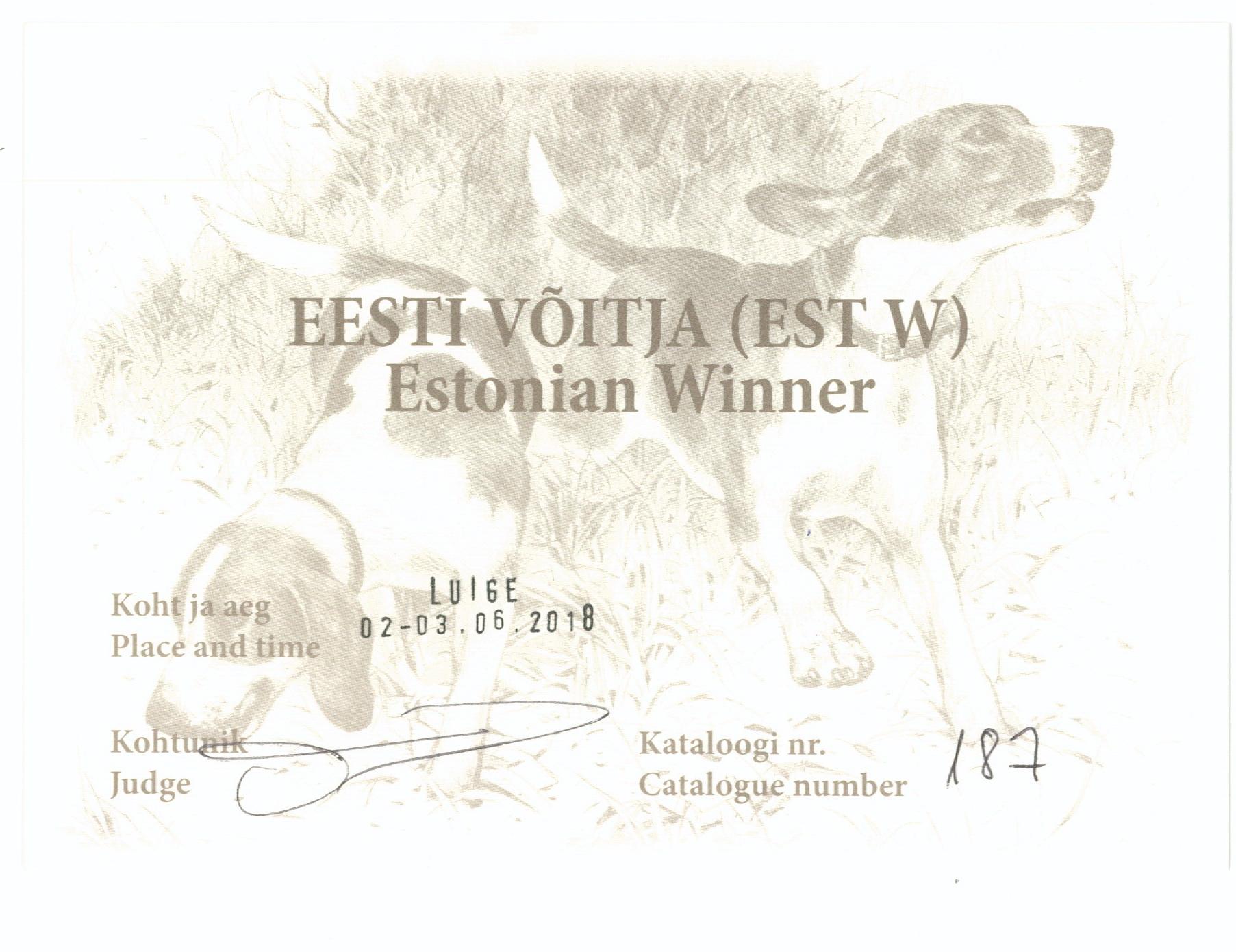 Шон Ю.Эстония Виннер