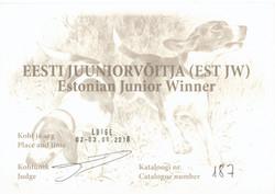 Шон-Эстония Юниор Виннер