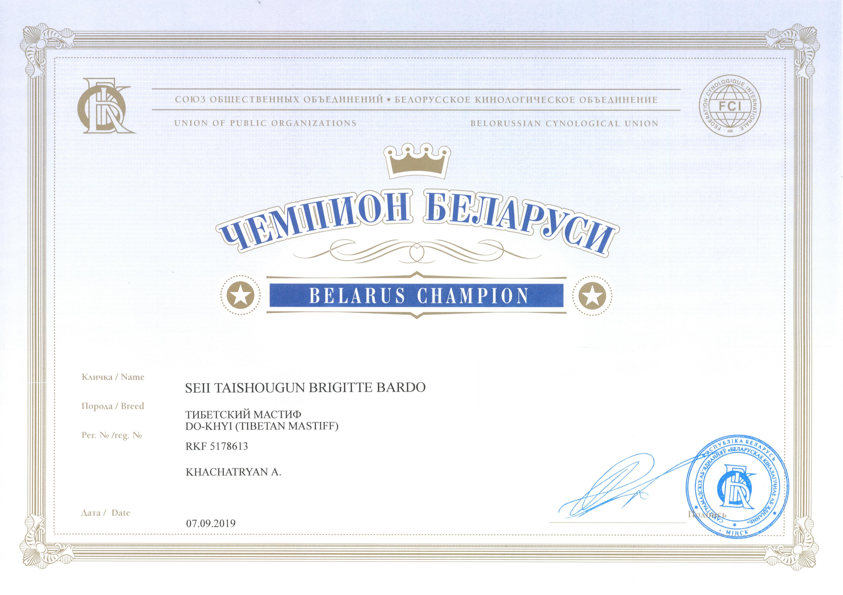 Бриджита ЧБеларуси