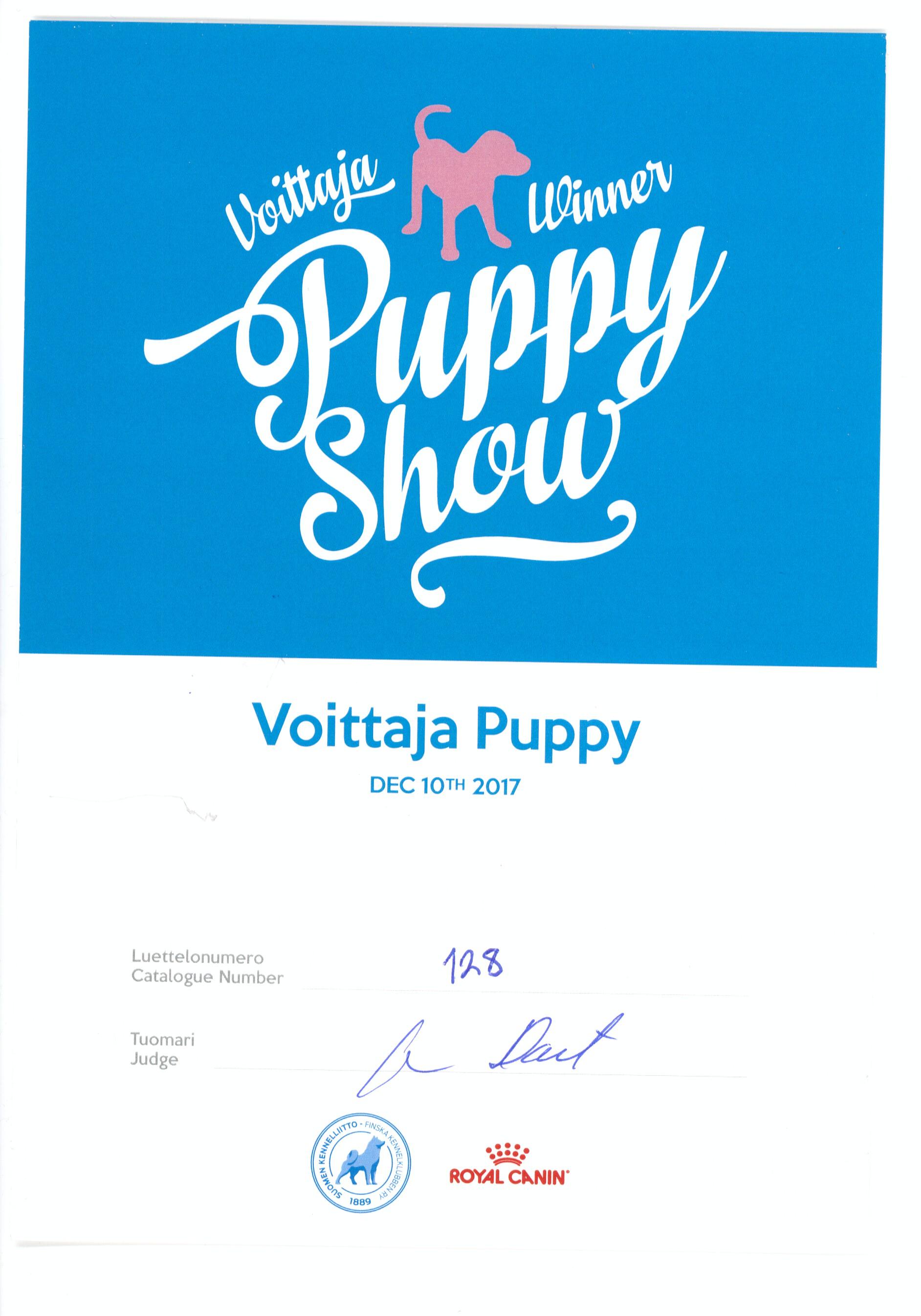 Шон 10.12.17 Войта ВОВ puppy