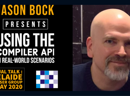 INTERVIEW WITH JASON BOCK - FEATURED PRESENTER AT ADNUG, 13 APRIL 2020