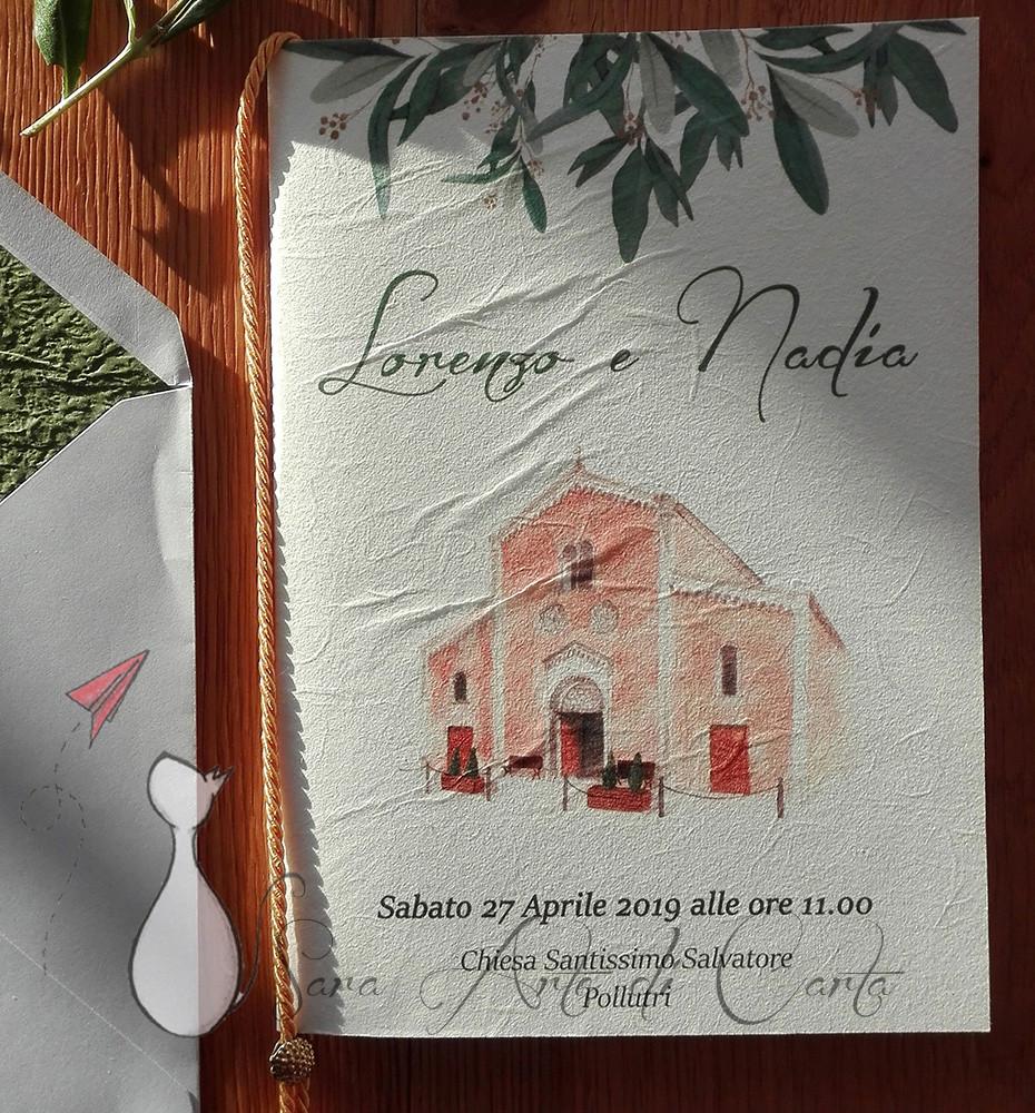 Libretto acquerello su carta di riso