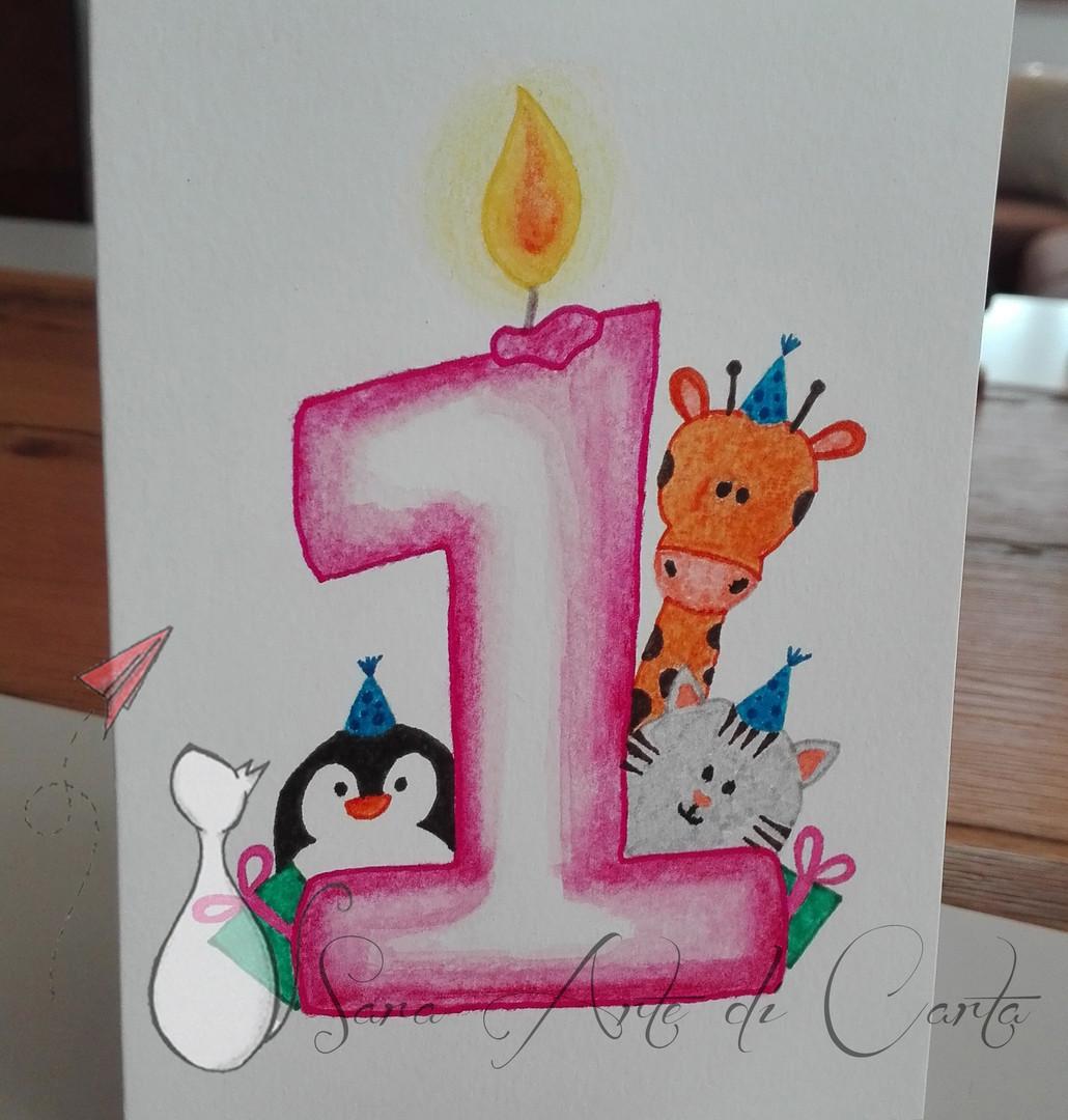 Biglietto primo compleanno